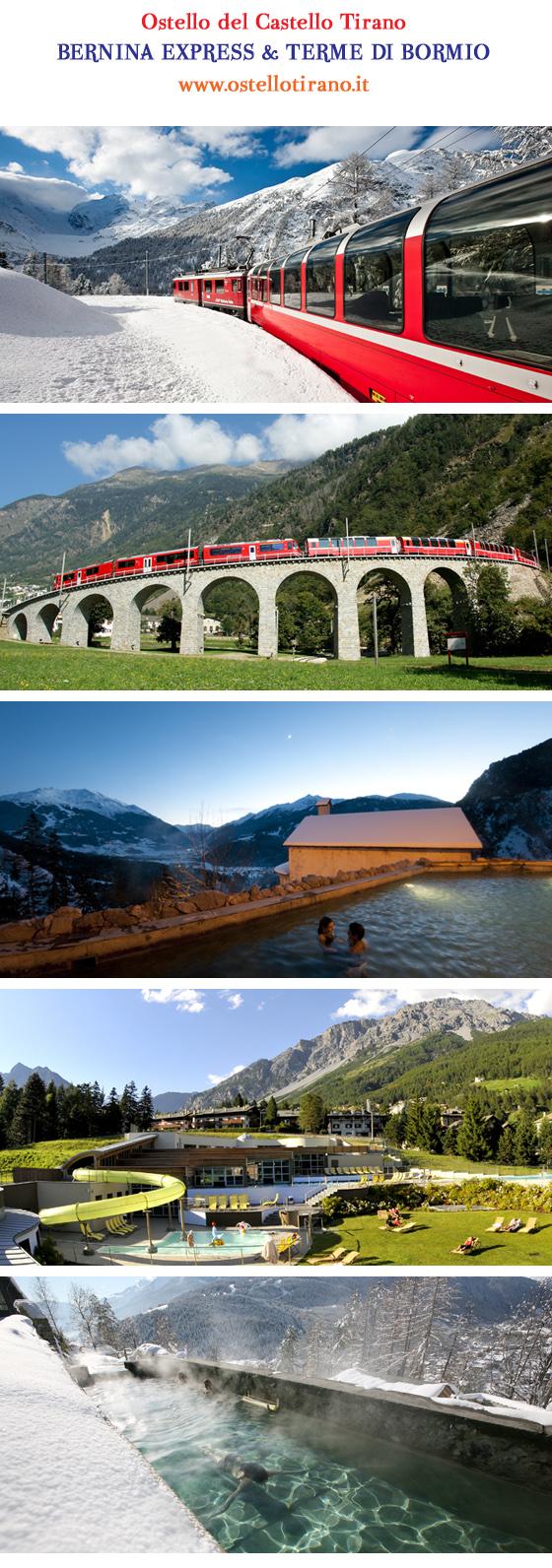 trenino rosso bernina express ferrovia retica bormio terme bagni nuovi bagni vecchi bormio terme