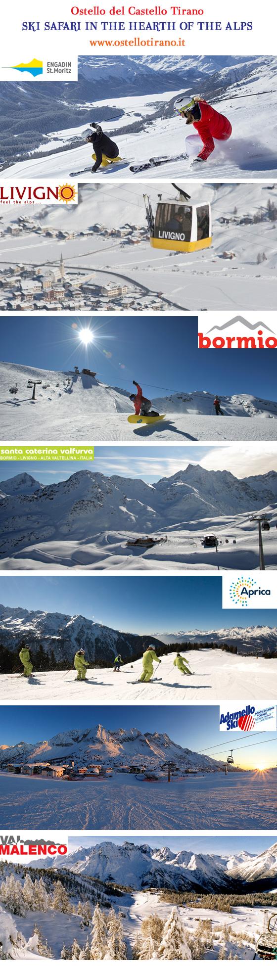 offerta settimana bianca ski safari livigno bormio valfurva st moritz aprica valmalenco trenino rosso diavolezza