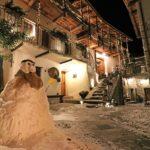 ostello tirano – pupazzo neve corte 1
